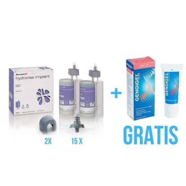 2 x Hydrorise Implant + Gratis 15 x końcówek mieszających + 2 pierścienie mieszające + GengiGel 20 ml