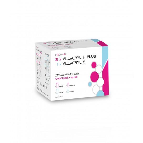 2 x Villacryl H Plus + 1 x Villacryl S ( Zestaw Promocyjny  Gratis : Kubek + ręcznik )