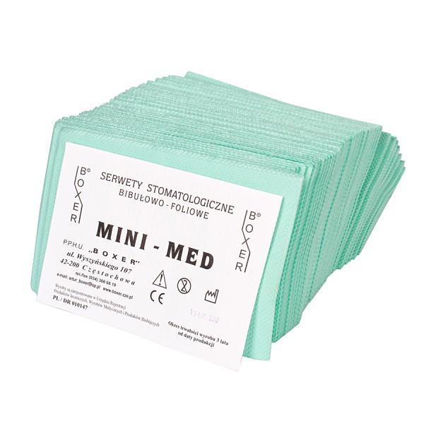Jednorazowe serwety stomatologiczne MINI-MED w rolce
