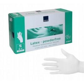ABENA Rękawice lateksowe bezpudrowe Białe (100szt.)
