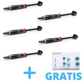 5 x Tetric Prime  3g + GRATIS 1 x  OptraGloss Composite Kit