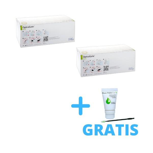 2 x OptraGate 80 szt + 1x Fluor Protector S 7g