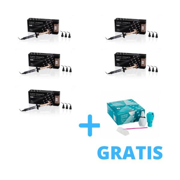 4 x G-Aenial Universal Flo 2ml ( 3,4g ) + G-Aenial Universal Flo A2 lub A3