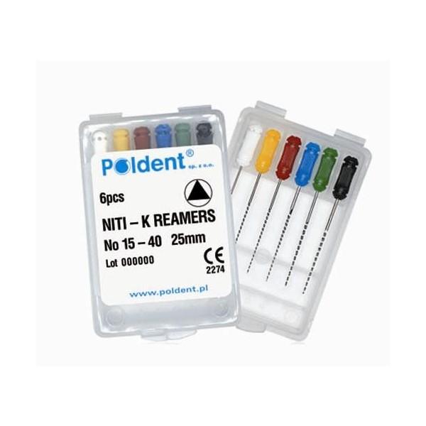 Poszerzacze K - K-Reamers ręczne 6szt