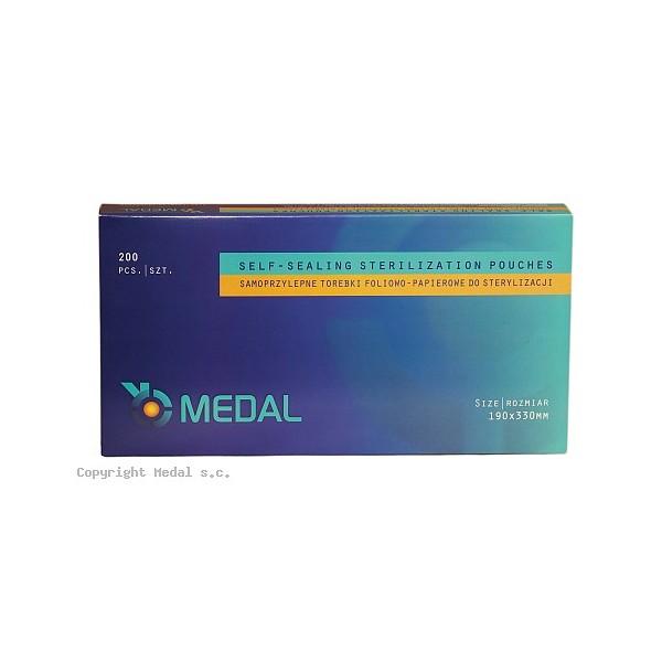 Torebki do sterylizacji MEDAL 190 x 330 mm