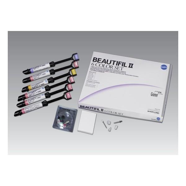 BEAUTIFIL II Tips 6 Color Set Shofu