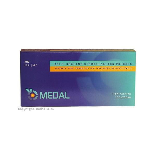 Torebki do sterylizacji MEDAL 135 x 250 mm