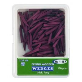 Kliny drewniane fioletowe (100szt) - grube, długie (1.187)