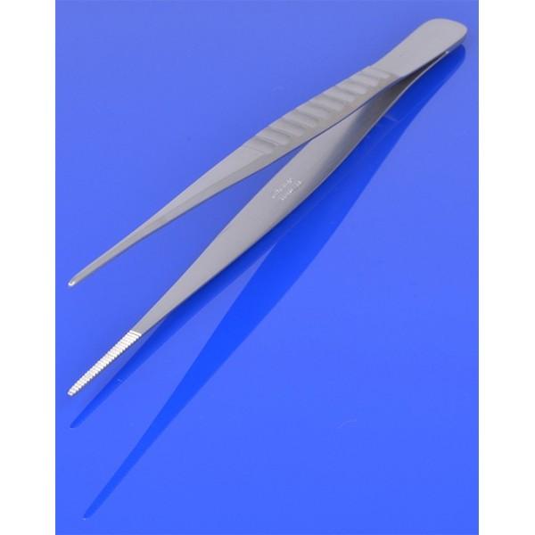 Pinceta anatomiczna 18 cm, wąska, karbowany uchwyt PR-240