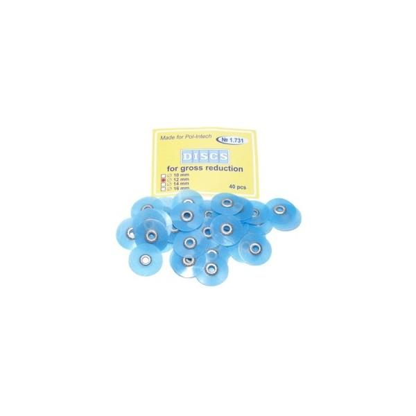 Krążki polerskie na standardową mandrelkę na rynku (op.40 szt.) 12 mm - niebieskie coarse(1.731)