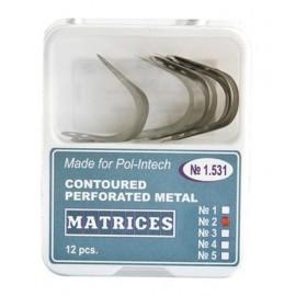 nr 2 Matryce perforowane profilowane do formówek Ivory opakowanie 12 szt