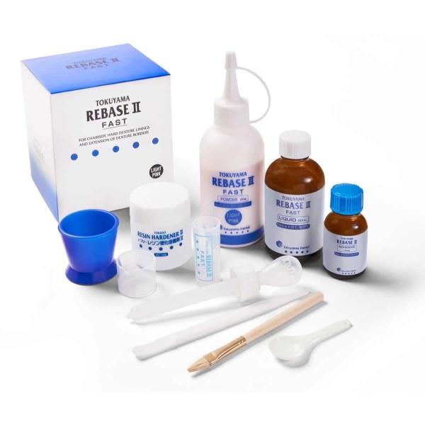 Rebase II Fast Light Pink Kit materiał akrylowy do podścielania protez