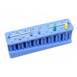 Niebieski sterylizowany organizer do endodontycznych pilników 32 otwory na pilniki
