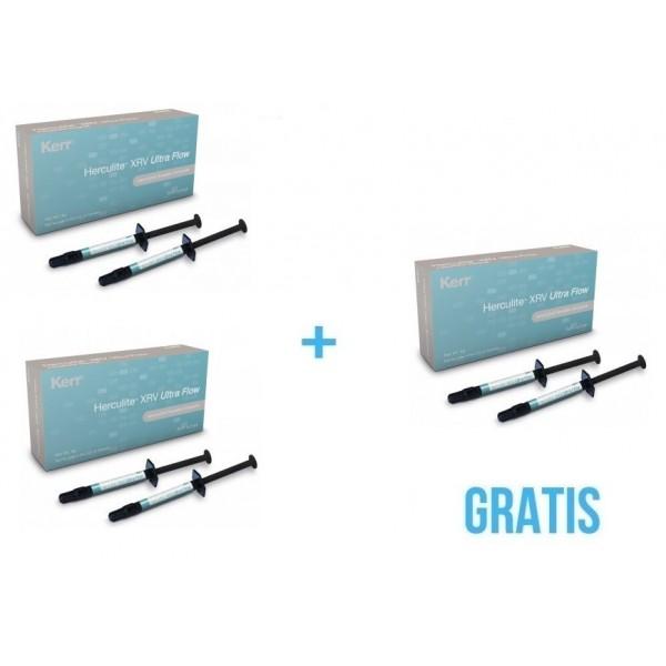 2 x Herculite™ XRV Ultra Flow + Gratis 1 x  Herculite™ XRV Ultra Flow