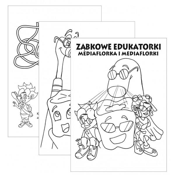 Ząbkowe edukatorki Malowanki w bloczku A-5