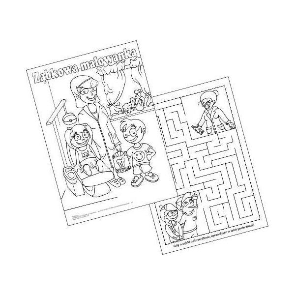Malowanki – Pani Doktor – bloczek A-4
