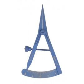 Miarka implantologiczna tytanowa Azzurro-Line Castroviejo 80 mm, prosta
