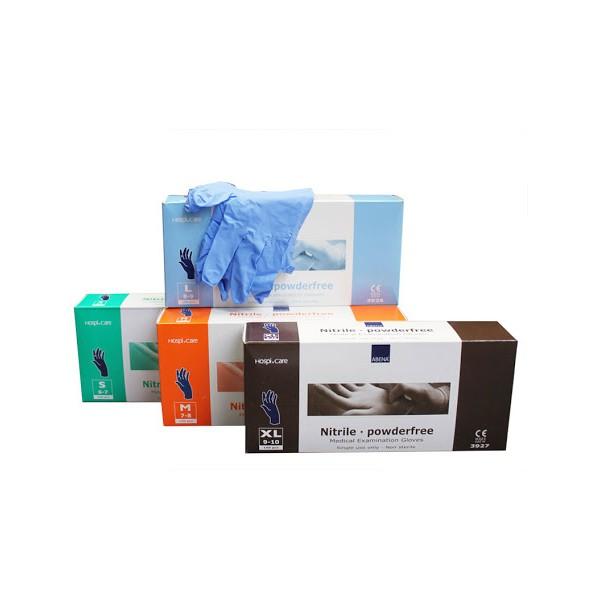 ABENA -Rękawice nitrylowe bezpudrowe, Niebieskie (100szt.)