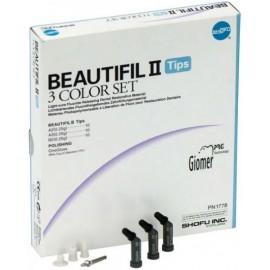 BEAUTIFIL II Tips 3 Color Set Shofu