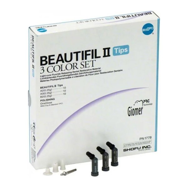 BEAUTIFIL II Tips 3 Color Set Shofu