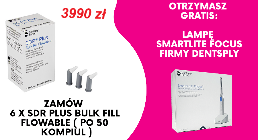6 x SDR Plus Bulk Fill Flowable 50 kampiul + Lampa SmartLite Focus